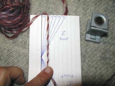 Measuring the twist angle of a singles yarn