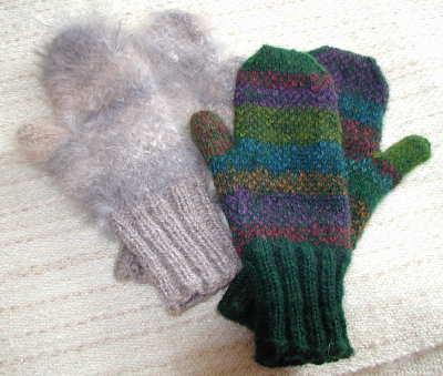 Both pairs of mittens