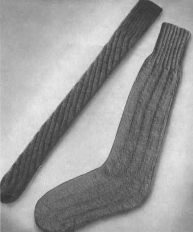 Spiral Socks Knitting Pattern : HJS Studio WWII Socks